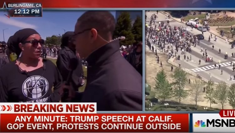 Left-Wing Protesters Fail to Prevent Trump from Speaking in California [Video]