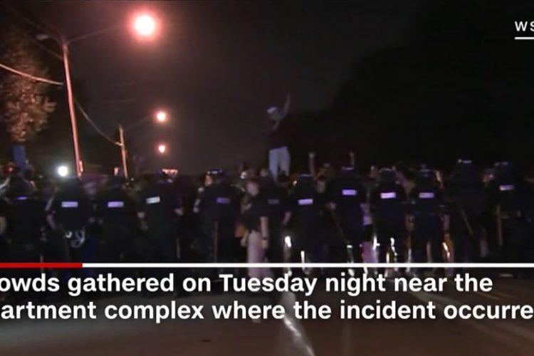 'Black Lives Matter' Peaceful Protesters Damage Downtown Charlotte, North Carolina