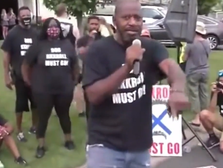 Minnesota Democratic candidate riled up crowd at police union official's home